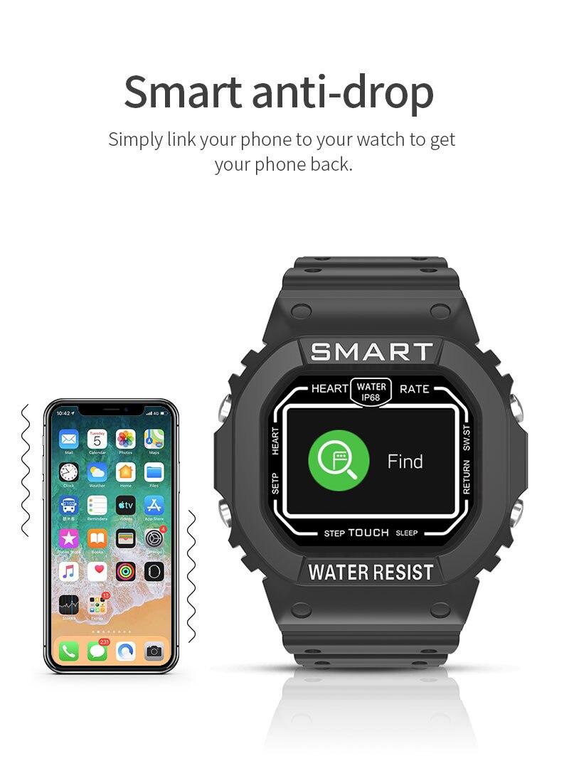 LEMFO 2020 New Anti-fingerprint 1.14 Inch Colorful Screen Smart Watch Men Women IP68 Waterproof Heart Rate Monitor Smartwatch