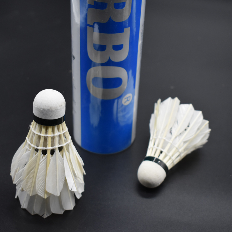 12pcs Badminton Shuttlecocks Outdoor Sport Game Colorful Plastic Man Ball Goose Feather Balls With Box