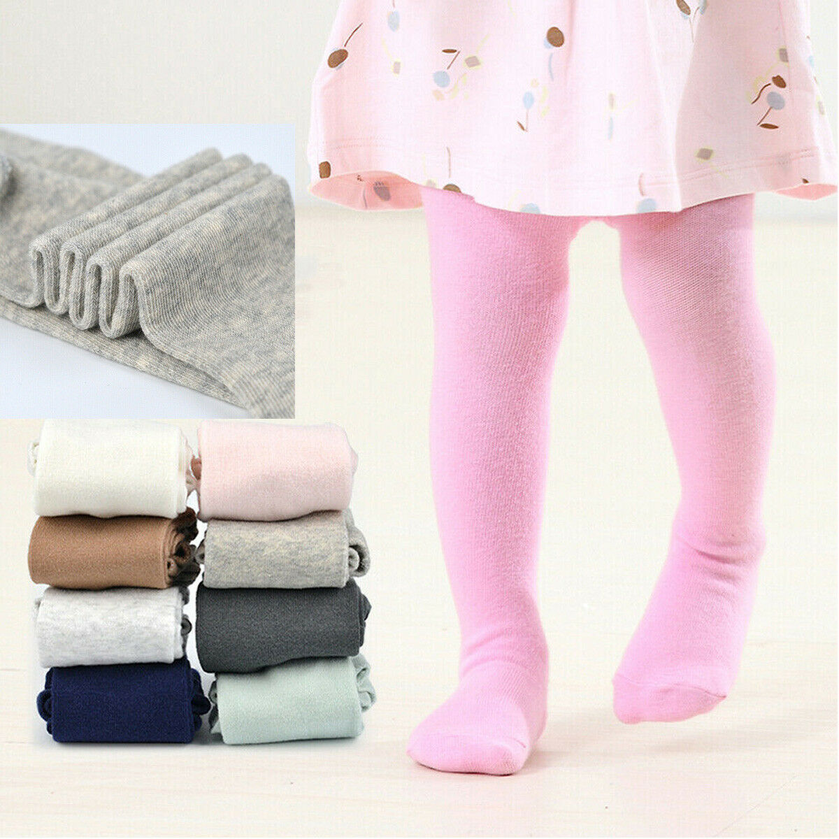 Newborn Baby Tights Toddler Kids Baby Girls Cotton Winter Warm Tights Stockings Pants Little Baby Casual Trousers Pantyhose
