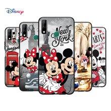 Negro suave Mickey Minne diversión para Huawei Y9S Y6S Y8S Y9A Y7A Y8P Y7P Y5P Y6P Y7 Y6 Pro primer 2020 2019 caja del teléfono