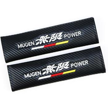 Excelente funda de accesorios para el coche para Honda Mugen Power Accord CRV Hrv Jazz funda de cinturón de seguridad para coche 2 uds
