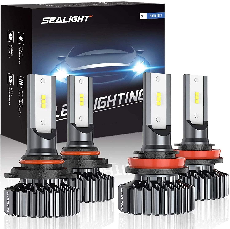 Морской светильник 4 шт. 9005 и H11 светодиодный головной светильник лампы 24000LM 100 Вт Высокий Низкий Луч комбинированный CSP светодиодный чипы Hi/к...