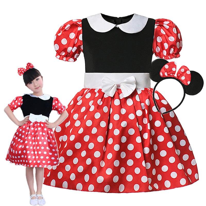 Bebek kız Minnie elbise çocuklar Mickey Tutu yaz çocuk sevimli rahat kostümleri Toddler cadılar bayramı karikatür rol oynayan balo