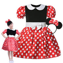 Disney bebek kız Minnie elbise çocuklar Mickey elbise Tutu yaz çocuk sevimli rahat kostümleri Toddler cadılar bayramı karikatür rol