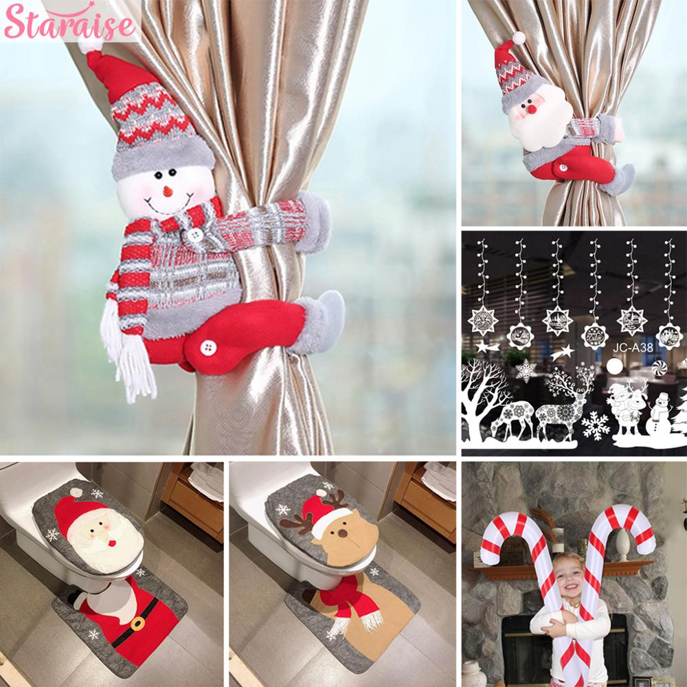 2020 Christmas Santa/Snowman/Elk Cartoon Curtain Buckle Decoration Decoration For Home Christmas Ornament Navidad New Year 2020