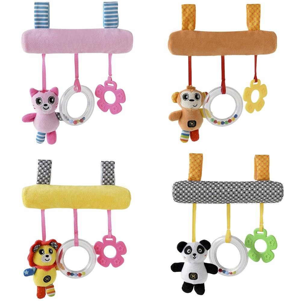 Boys Newborn Animal Baby Infant Soft Hand Bells Rattles Developmental Toy N7