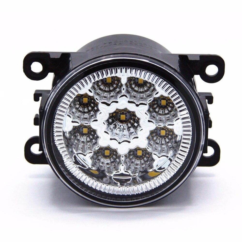 2 шт 9 см мощный Полный светодиодный противотуманный фонарь дальнего света 6000K 1000LM с 9 шт SMD светодиодный фонарь для Ford Ranger & Territory горячая расп...
