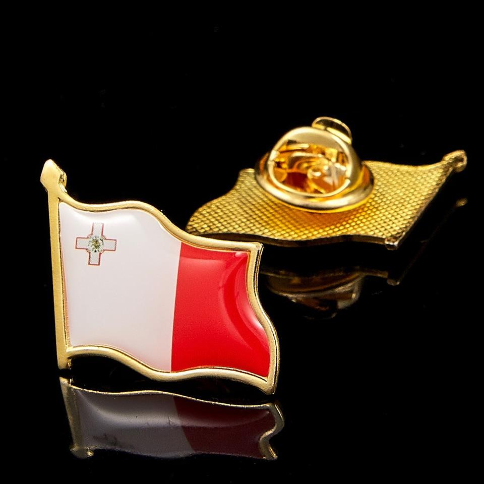 Malta National Flag Badge Patriotism Brooch Waving Lapel Pin Accessories(China)