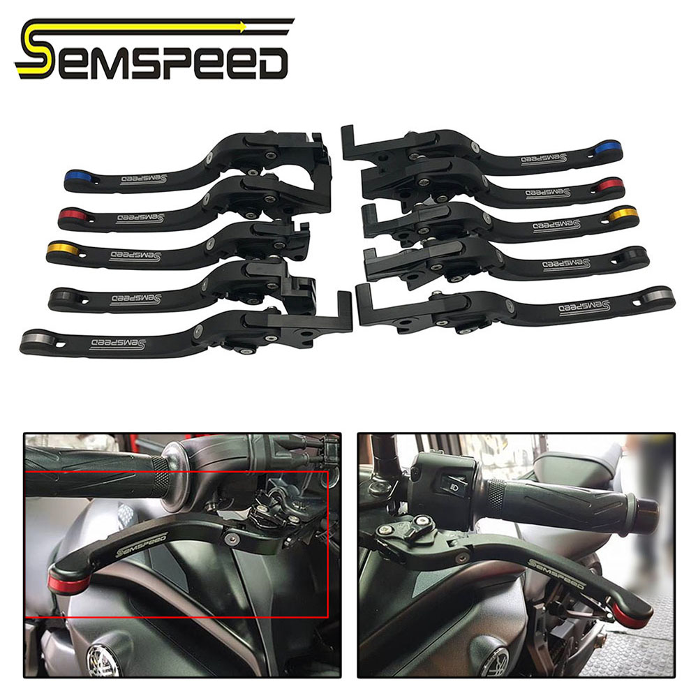 SEMSPEED Motorcycle CNC Foldable Only Brake Clutch Levers For <font><b>Yamaha</b></font> YZ80 YZ125 TW200 XT250 TT350 XT350 <font><b>XT600</b></font> TT600 TTR250 <font><b>Parts</b></font> image