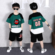 Summer Outfits Shirt Shorts-Set Boys Clothing Casual-Suit Teenage Kids Boys 12-Years