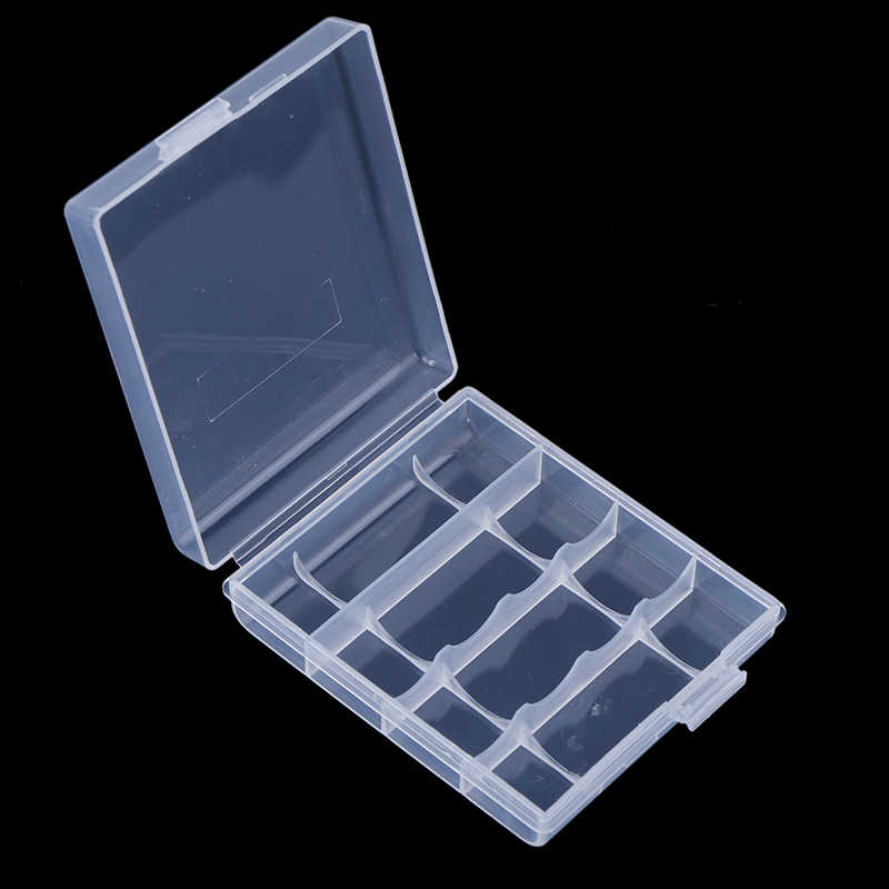 Kunststoff Fall Halter Storage Box Für 8x AA 4x AA/AAA Batterie Container Organizer Hartplastik Batterie Lagerung Box