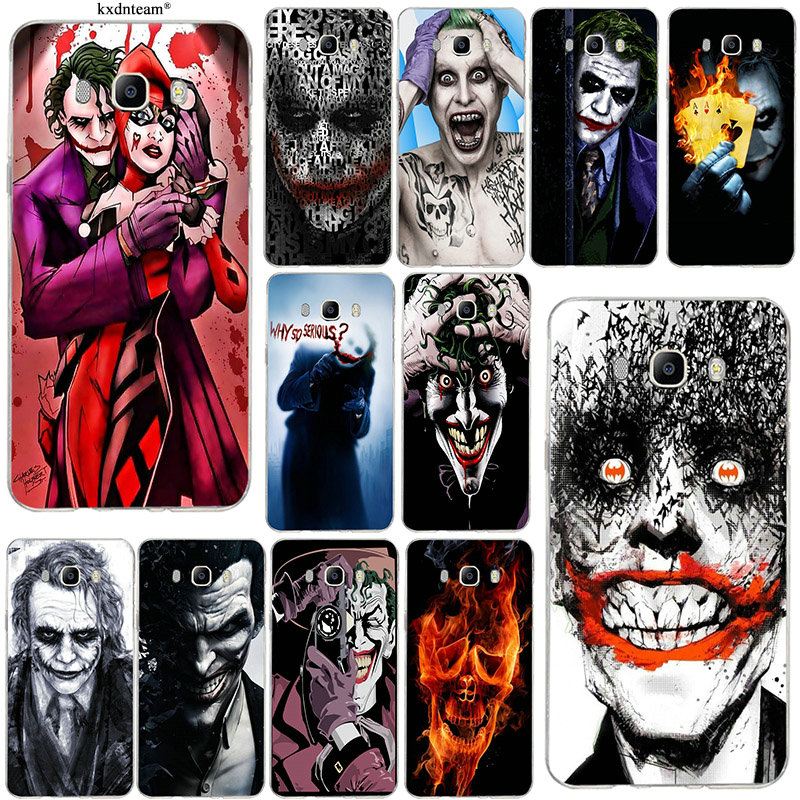 Soft TPU Mobile Phone Cases for Samsung Galaxy J1 J2 J3 J5 J7 2015 2016 2017 Coque Shell Bags Joker Batman The Killing Joke image