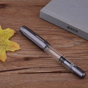 Image 5 - Moonman T1 Acrylic/Metal Piston Fountain Pen Aluminum Alloy Fine Nib 0.5mm Large Capacity Pens Office School Stationery Gift
