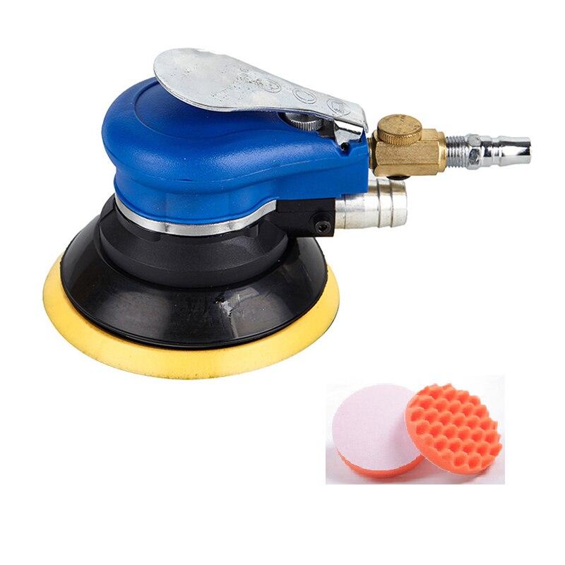 Aletler'ten Parlatıcılar'de 5 Inch Non Vacuum Matte Surface Circular Pneumatic Sandpaper Random Orbital Air Sander Polished Grinding Machine Hand Tools With title=