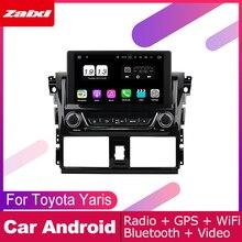 ZaiXi android car dvd gps multimedia player For Toyota Yaris 2014~2016 car dvd navigation radio video audio player Navi Map
