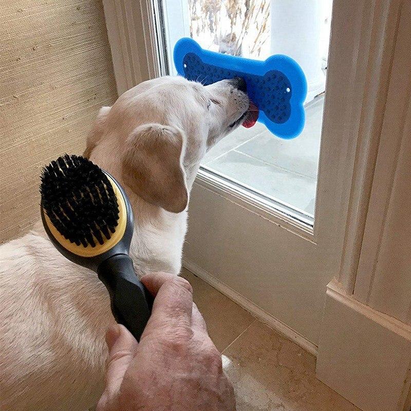 シリコンペット壁掛けパッドボウルペットスロー食品トレーニングボウル犬に食べるフィーダー便利風呂犬スナックパッドペット用品