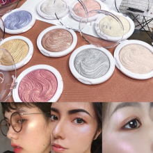 купить Highlighter Shimmer Glitter Illuminator Makeup Face Body Brightener Contouring Highlighter Powder Palette Bronzer в интернет-магазине