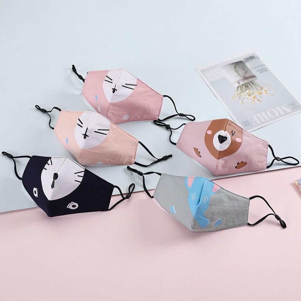 1Pcs Children Cartoon Washable Breathable Cotton Anti Haze Dustproof Mouth Mask Wind And Dust Resistance Against Viruses