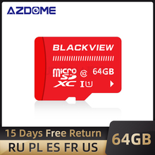 Blackview 64GB TF Micro SD CardสำหรับAZDOME Dash Camกล้องกล้องDVRรถอะแดปเตอร์Class 10 64GB