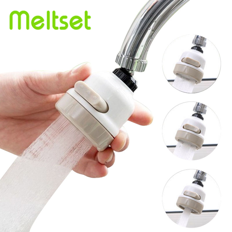 360 Degree Rotatable Spray Head Kitchen Faucet 3 Modes Adjustable Kitchen Tap Nozzle Durable Filter Nozzle Kitchen Accessories