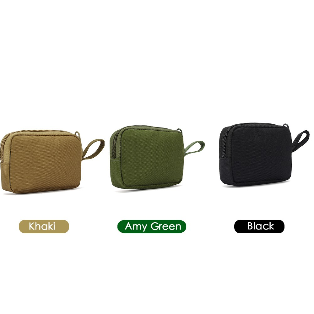H06dbc8a110a64be2ac254e6141a98036U - Tactical Mini Wallet Card Bag Small Pocket Key Pouch Money Bag Men Waterproof Portable EDC Pouch Hunting Outdoor Waist Bag Nylon