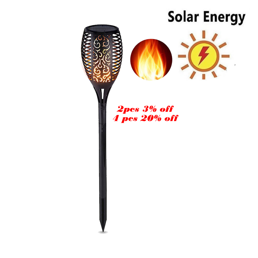 Update Solar 33LEDs Lawn Dancing Flame Torch Lights Radar Led Outdoor Flame Lamp Flickering Bulb Dancing Lawn Lamps Path Lightin