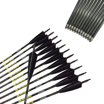 12pcs Archery Pure Mix Carbon Arrows ID4.2mm Sp600-900 3inch Turkey Feather 80gr Tips for Recurve Bow Shooting Archery