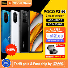 Global Version POCO F3 5G 6GB 128GB/8GB 256GB Smartphone Snapdragon 870 Octa Core 6.67