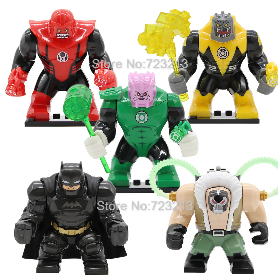 7cm Super Hero DC Sinestro Green Lantern Batman Figure Kilowog Bane Atrocitus Action Building Blocks Model Bricks Toys Legoing