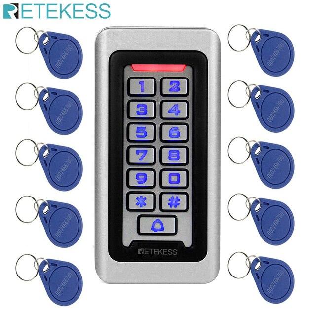 Retekess T AC03キーパッドrfidアクセス制御システム近接カードスタンドアロン2000ユーザードアアクセス制御防水金属ケース