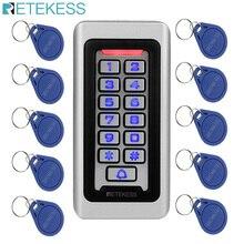 Retekess teclado T AC03 Sistema de Control de Acceso RFID tarjeta de proximidad independiente, Control de acceso de 2000 usuarios, funda de Metal impermeable