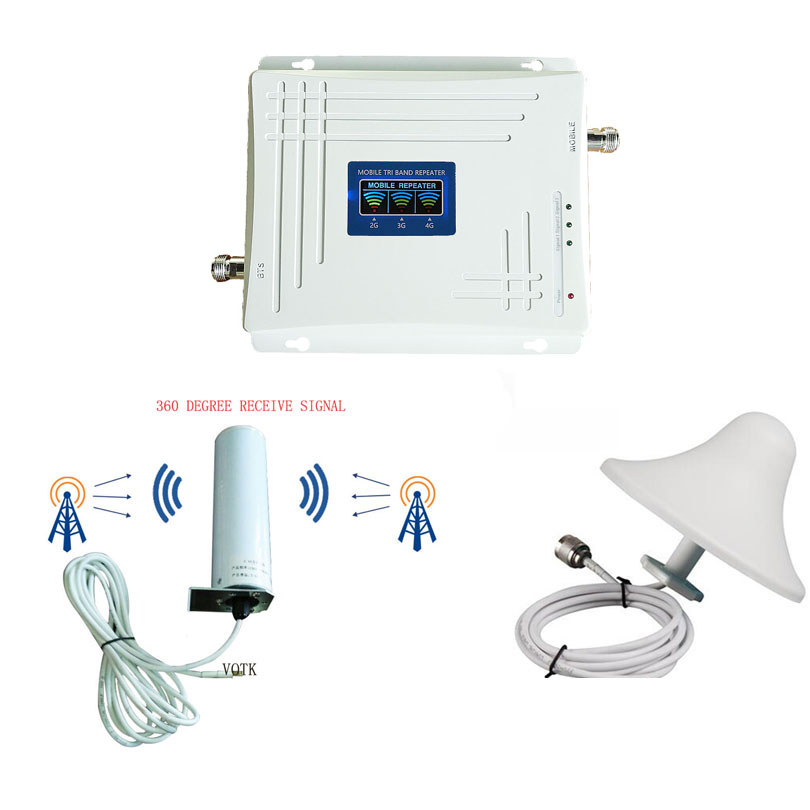 VOTK Tri Band Signal BOOSTER 2G 3G 4G SIGNAL REPEATER MOBILE PHONE GSM LTE1800MHz UMTS2100MHz  Tri Band SIGNAL AMPLIFIER