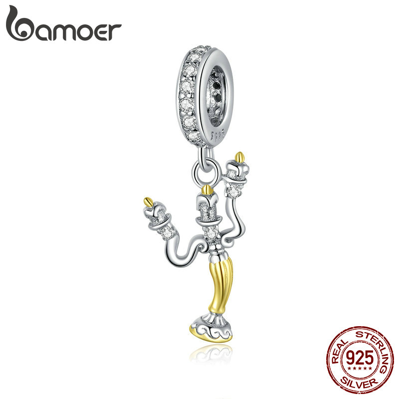 bamoer Genuine 925 Sterling Silver Magic Can Pendant Charm fit Original Brand Silver Bracelet and Necklace Fine Jewelry BSC319