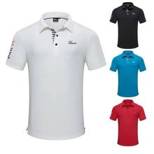 T-Shirt Golf-Clothing Sweat Short-Sleeved Summer New And Men Top-Wicking Moisture Loose