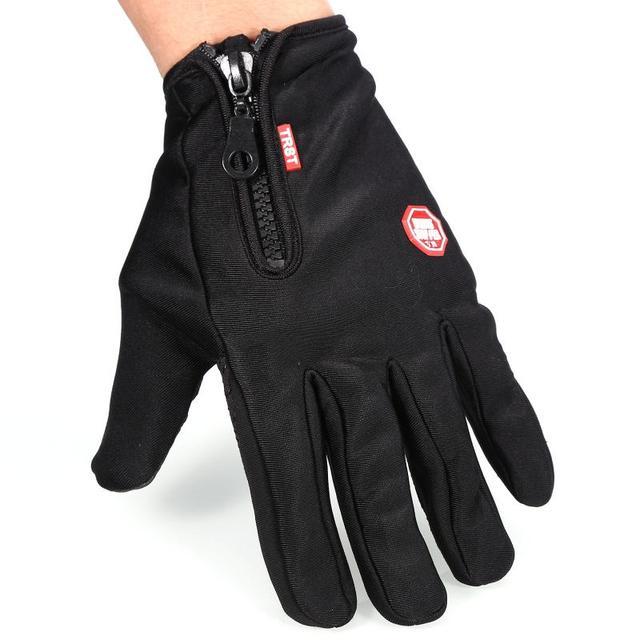 Outdoor Winter Windstopper Gloves Full Finger Gloves Men Women Touch Screen Gloves Bicycle Gloves Winter Warm Mittens 2