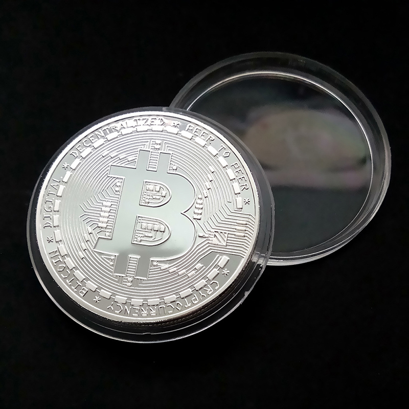 Funny Bitcoin Collectible BTC Coin Pirate Treasure Coins Props Toys For Halloween Party Cosplay Kids-4