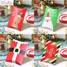 Christmas Candy Box Cookie Bag Decor for Home 2019 Happy New Year 2020 Natal Noel Navidad Xmas Gifts