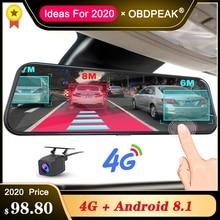 Зеркало заднего вида A980, 4G, Android 8,1, ADAS, потоковая камера 10 дюймов, видеорегистратор, автомобильная камера, видеорегистратор, видеорегистратор, GPS навигация, 1080P, Wi Fi