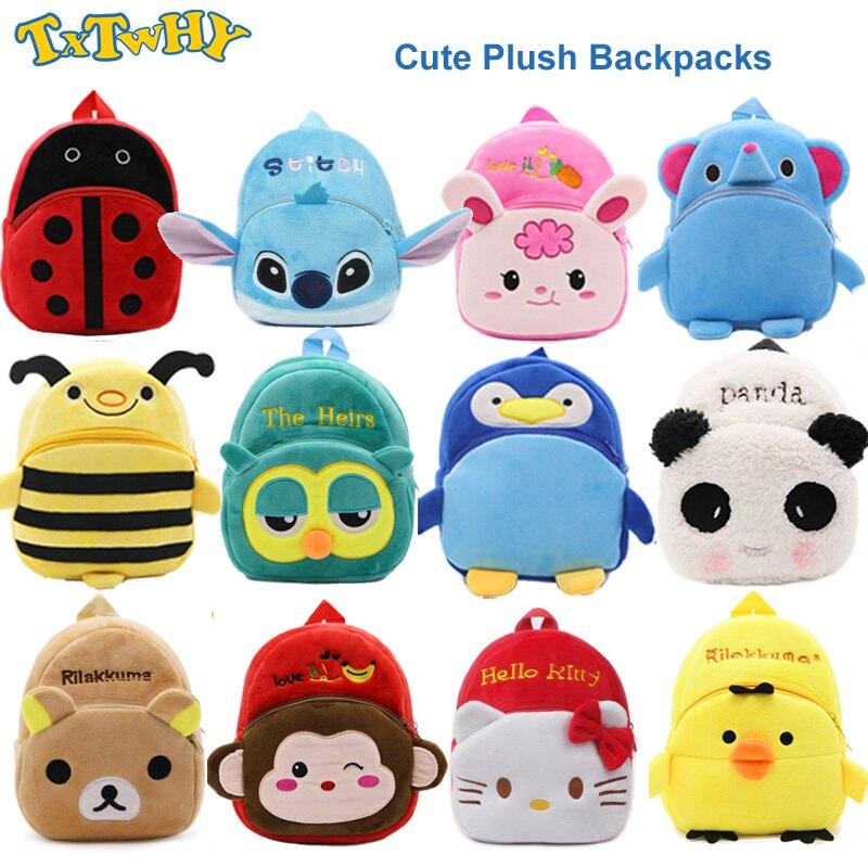 Hello Kitty Funny Joy New Cartoon Kids Plush Backpack Toy Mini School Bag Children's Gifts Boy Girl Baby Schoolbag Kindergarten