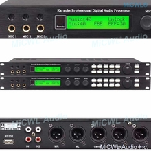3 Channel Microphone input Karaoke Professional Digital Effects Audio Processor Controller Equipment with USB to PC Software