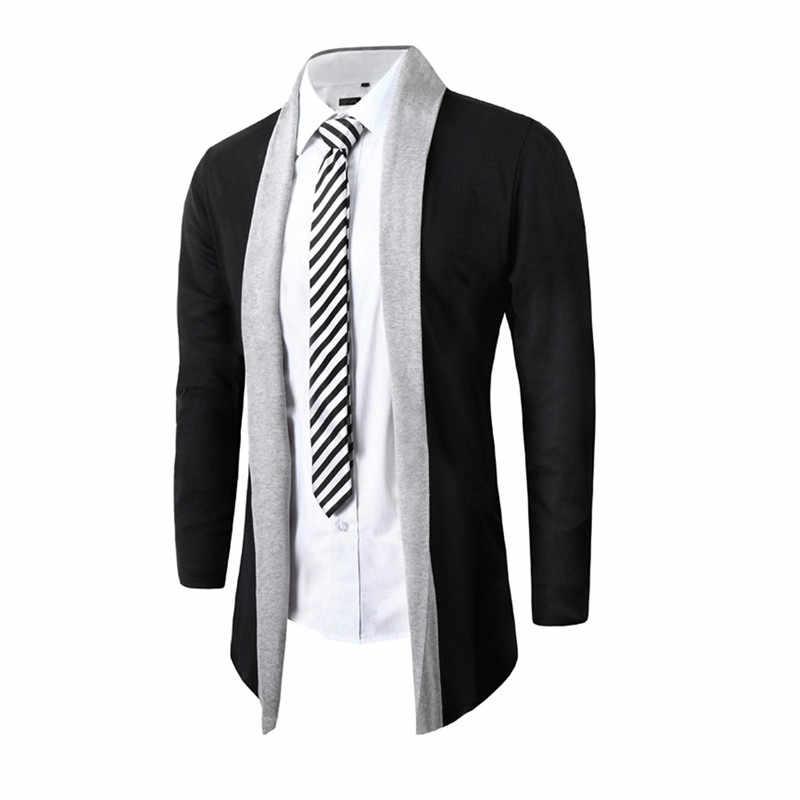 Männer Jacke Herren Road WorkStylish Männer Mode Strickjacke Jacke Schlank Langarm Casual Mantel Outwear Mantel Plus Mit Voller kragen
