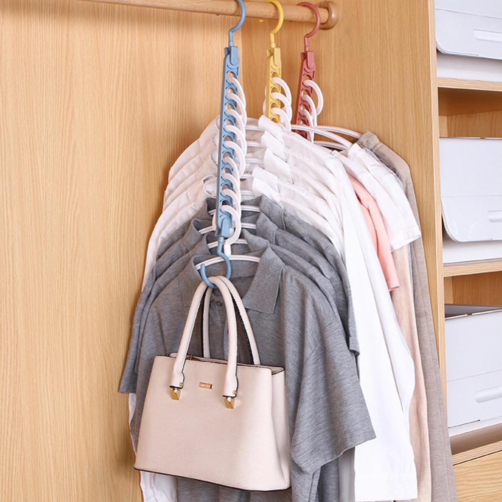 9 หลุม Magic Clothes hanger Multi-Function พับแขวนหมุนแขวนเสื้อผ้าตู้เสื้อผ้าเสื้อผ้าแห้งแขวน Home Organizer