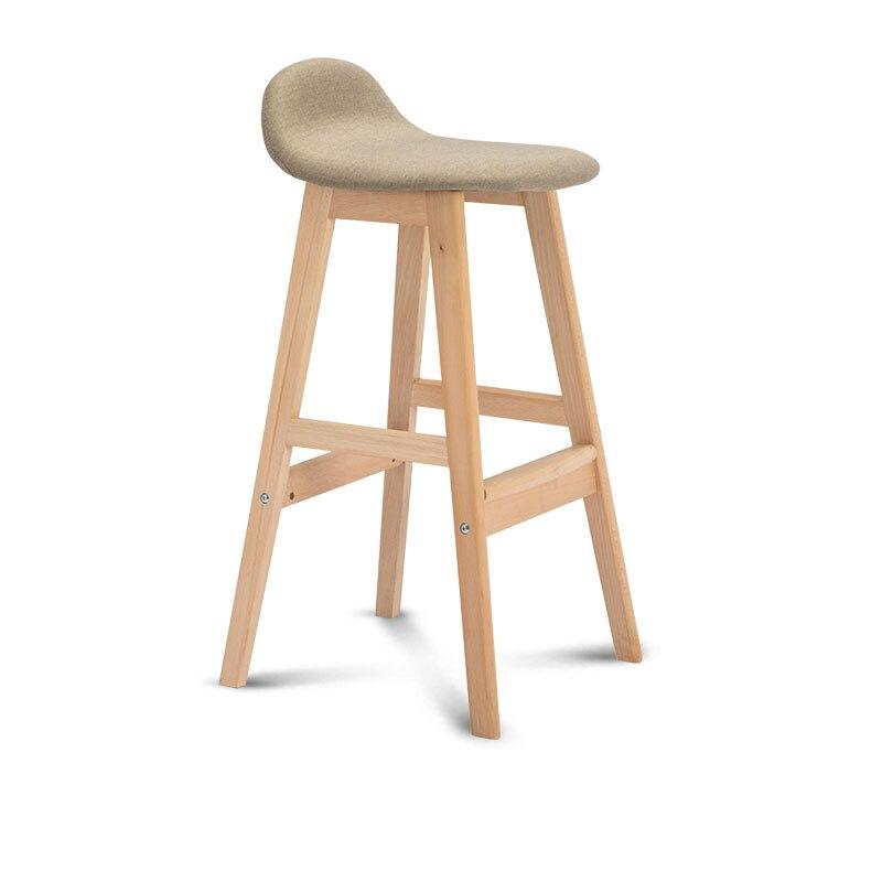 60cm Seat Height Bar Stool Modern Minimalist Bar Chair Back Stool Solid Wood Bar Chair Nordic Bar Stool Front Desk Chair