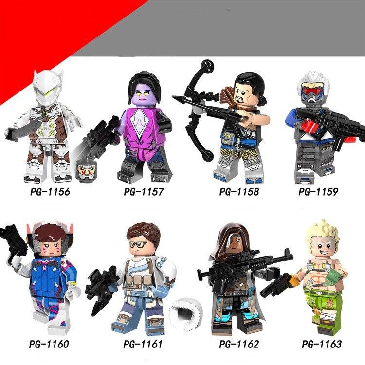 Single Overwatcher OW Hero Genji John Jack Morrison Widowmaker HANZO DVA ANA Building Block Legoing Toys Figures For Kids Gift