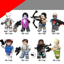 Single Overwatcher OW Hero Genji John Jack Morrison Widowmaker HANZO DVA ANA Building Block Legoing Toys Figures for kids Gift(China)