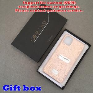 Image 5 - 10 sztuk/partia kobiety luksusowy prezent obudowa na telefon dla iphone 6 6s 7 8 Plus 11 Pro Max 11Pro kolor stopniowa brokat twarda obudowa CKHB PFB1
