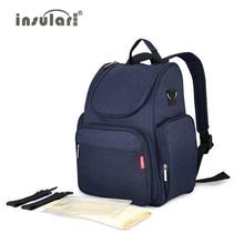 Insular mochila para pañales de bebé, bolso multifuncional para cochecito de bebé, bolsa de viaje de maternidad para mamá, mochilas para mujer