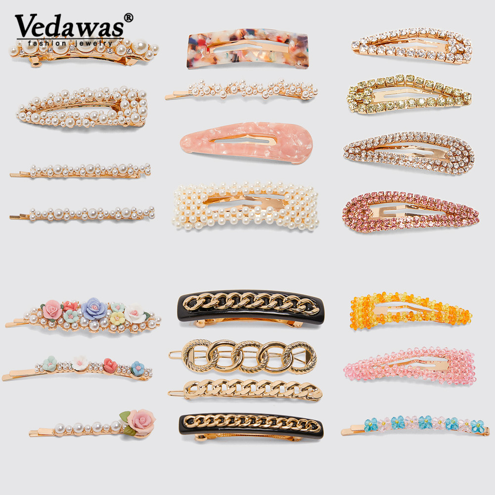 Vedawas Trim Barrettes Chain Hair-Accessories-Sets Jewellery Hair-Pins Trendy ZA Xg3349