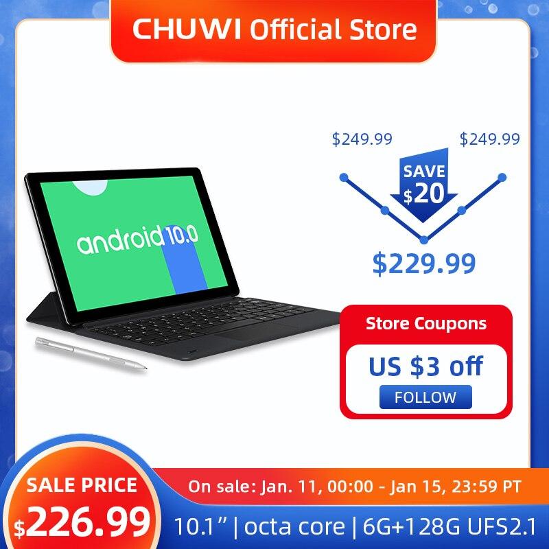 CHUWI HiPad X 10,1 дюймов Android 10 планшетный ПК Octa Core LPDDR4X 6 ГБ Оперативная память 128G UFS 2,1 планшет 4 аппарат не привязан к оператору сотовой связи GPS