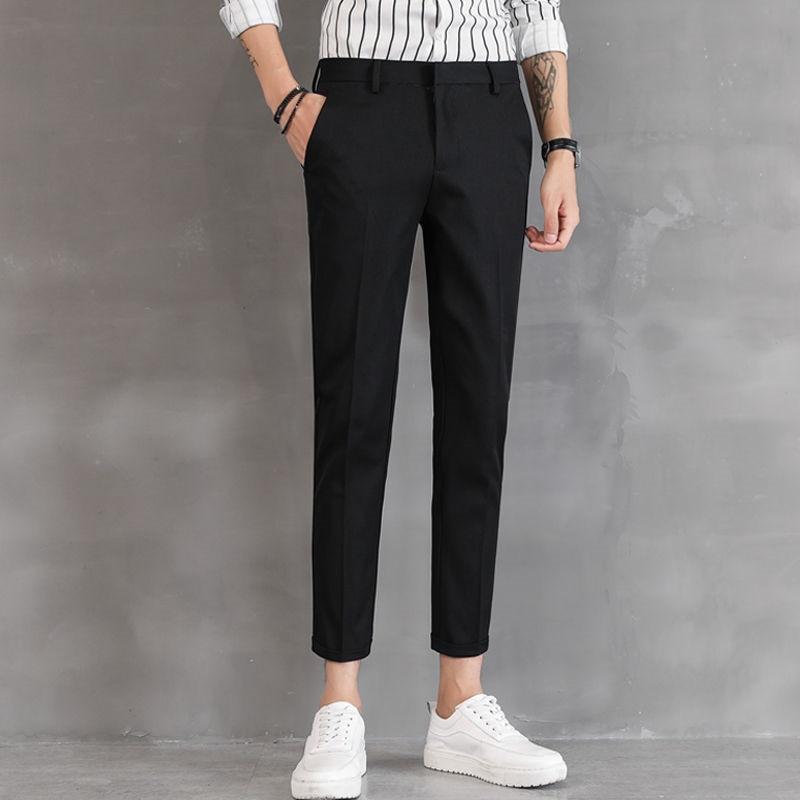 Ankle-Length Linen Plaid Pants Men Trousers Hip Hop Jogger Pants Male Sweatpants Streetwear Men Pants 2019 New Fashion Blue
